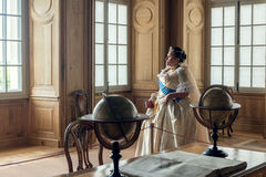 Historical cosplay. woman in the similitude of Catherine the Great, empress of Russia. Historical cosplay. Beautiful woman in the similitude of Catherine the stock photography