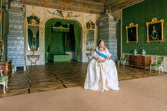 Historical cosplay. woman in the similitude of Catherine the Great, empress of Russia. Historical cosplay. Beautiful woman in the similitude of Catherine the royalty free stock photo