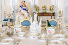 Historical cosplay. woman in the similitude of Catherine the Great, empress of Russia Royalty Free Stock Photography