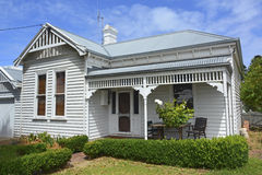 Historical cottage in Port Fairy. Royalty Free Stock Image