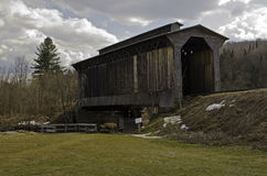 Historical Covered Train Bridge Royalty Free Stock Images