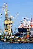 Historical crane in the shipyard in Gdansk, Poland stock photo