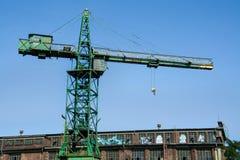 Historical crane in the shipyard in Gdansk, Poland stock photography