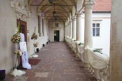 Historical decorated Castle. In Poland before wedding ceremony Royalty Free Stock Photos