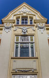 Historical decorated facade in the center of Stade Stock Photo