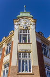 Historical decorated facade in the center of Stade Royalty Free Stock Photos
