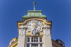 Historical decorated facade in the center of Stade Stock Photography