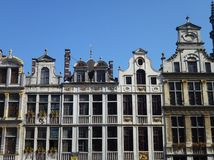 Historical decorated houses in Brussels Royalty Free Stock Photo