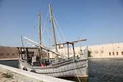 Historical dhow ship in Qatar Stock Photos