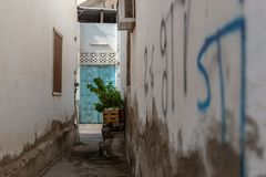 Historical district of Matrah in Muscat, Oman royalty free stock photo