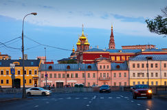 Historical district of Moscow in evening Royalty Free Stock Images