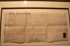Historical document Stock Photography
