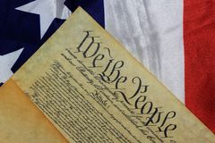 Historical Document United States Constitution Royalty Free Stock Photos