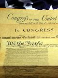 Historical Documents - United States Constitution Stock Image