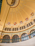 Historical dome of Prague Main Railway Station Royalty Free Stock Images