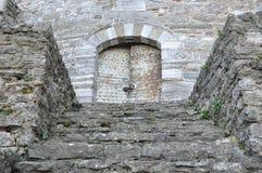 Historical door. An historical door in rumeli hisar Stock Photos