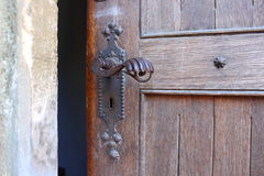 Ancient door detail Royalty Free Stock Image