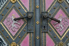 historical door in prague Stock Photography