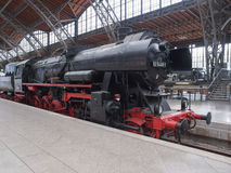 Historical DR locomotive in Leipzig Hbf Royalty Free Stock Image