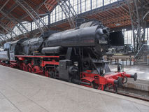 Historical DR locomotive in Leipzig Hbf Royalty Free Stock Photos
