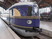 Historical DR locomotive in Leipzig Hbf Stock Photography