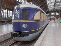 Historical DR locomotive in Leipzig Hbf Royalty Free Stock Images