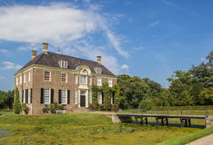 Historical dutch mansion Huis Den Berg in Dalfsen Royalty Free Stock Image