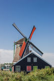 Historical dutch windmill in Zaanse Schans Royalty Free Stock Photography