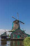 Historical dutch windmill in Zaanse Schans Stock Photography