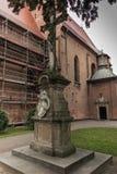 Historical, eight setletni convent, the nuns of the Benedictine. Abbey, Staniatki near Krakow in Poland royalty free stock photo