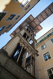 Historical elevator Santa Justa in Lisbon Stock Image