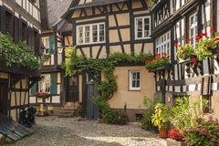 The historical Engelgasse in the old town of Gengenbach Royalty Free Stock Photos