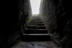 Historical enterance stone slab stairs royalty free stock photography