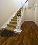 Historical entrance hall with vintage staircase