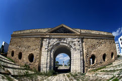 Historical entrance wall to the city in La Goulette,Tunisia Stock Photo