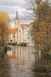 Historical Erfurt, Thuringia, Germany. Historical part of Erfurt, Thuringia, Germany; a view from Schloss Bridge over canal towards Aegidien church( stock photography