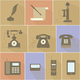 Historical Evolution of the Telephone Stock Photos
