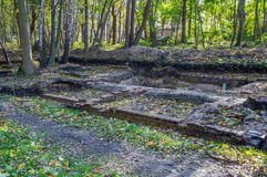 Historical excavations at Westerplatte in Gdansk in Poland. royalty free stock image