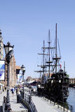 Historical Excursion boat in Gdansk in Poland Stock Photography