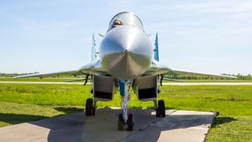 Historical exhibits of Russian military aircraft at the Kubinka airbase in the Moscow Region, Russia royalty free stock image