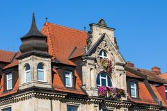 Historical facade - Bayreuth royalty free stock photo