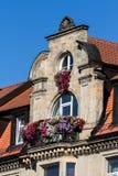 Historical facade - Bayreuth stock photography