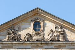Historical facade - Bayreuth old town Royalty Free Stock Photo
