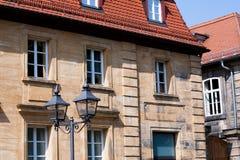Historical facade - Bayreuth royalty free stock image