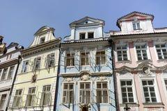 Historical facade in Prague. Historical facade in the center of Prague stock photos