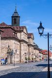 Historical facade in the city of Bayreuth - Post - Telephone - Telegraph stock image