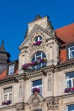 Historical facade in the city of Bayreuth Royalty Free Stock Photo