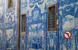 Historical facade in Porto city Royalty Free Stock Photos