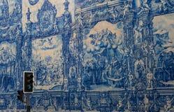 Historical facade in Porto city Royalty Free Stock Image
