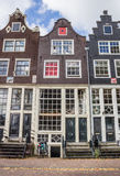 Historical facades in the center of Amsterdam Stock Images